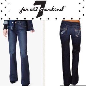 7 FAM Dojo 31x31 Wide Leg Jeans White 7s